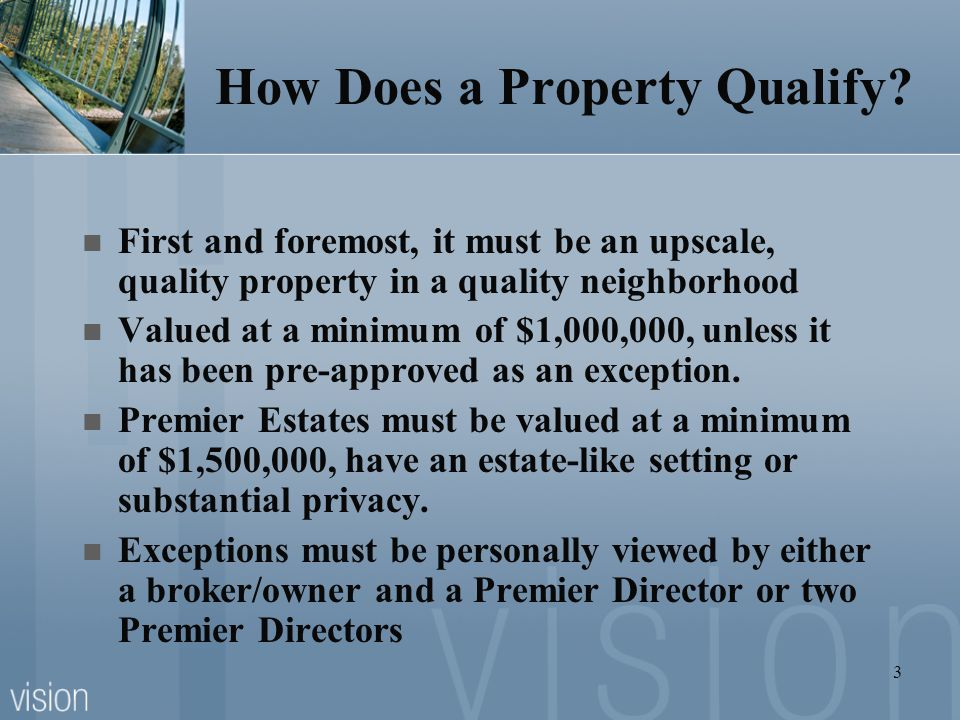 How Does a Property Qualify