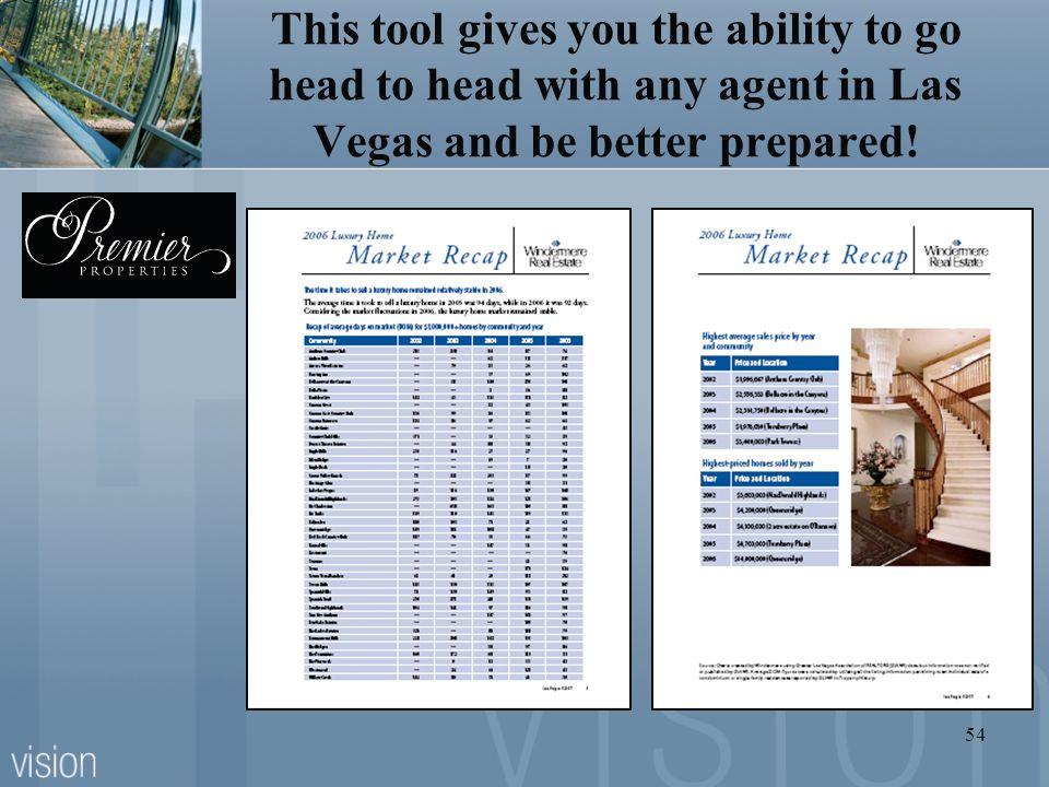 This tool gives you the ability to go head to head with any agent in Las Vegas and be better prepared!