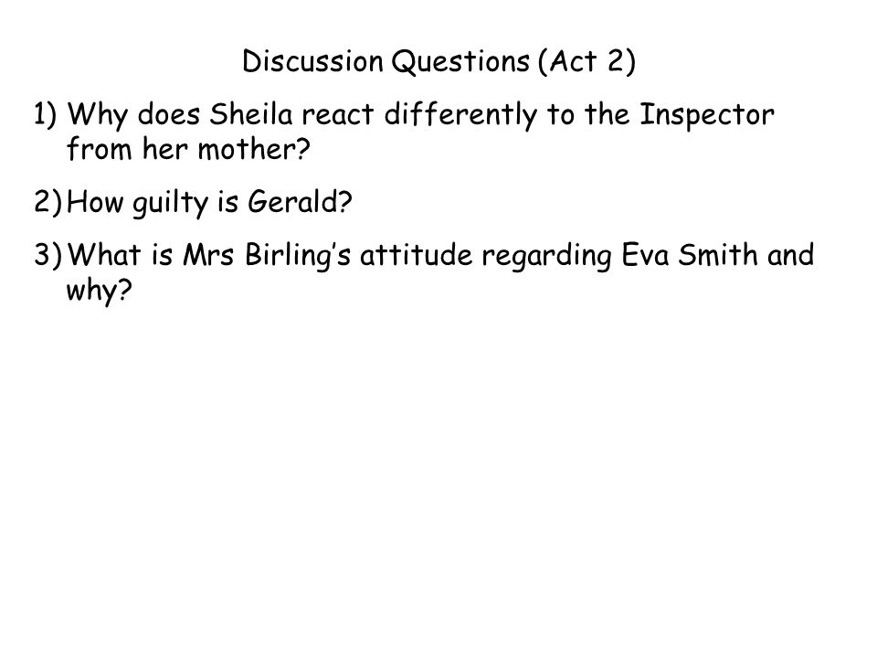 Discussion Questions (Act 2)
