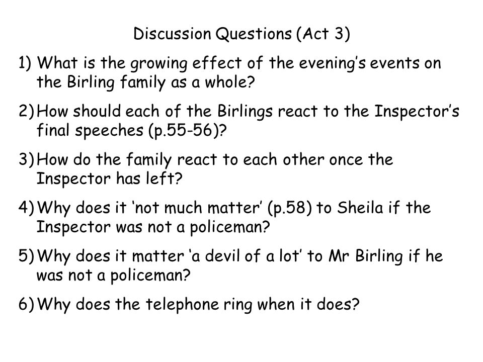 Discussion Questions (Act 3)