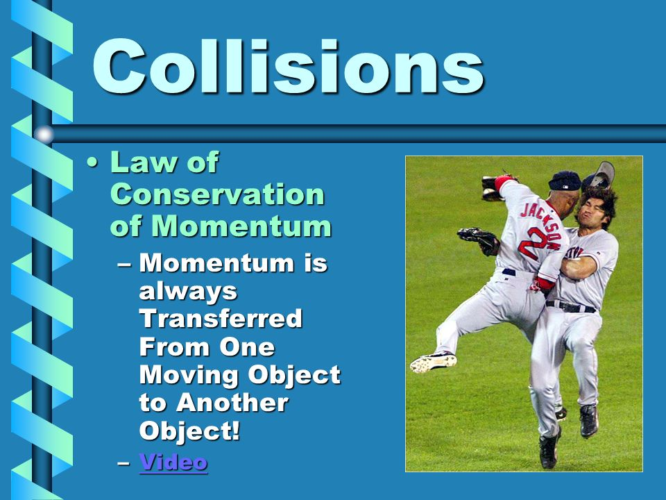 Collisions Law of Conservation of Momentum