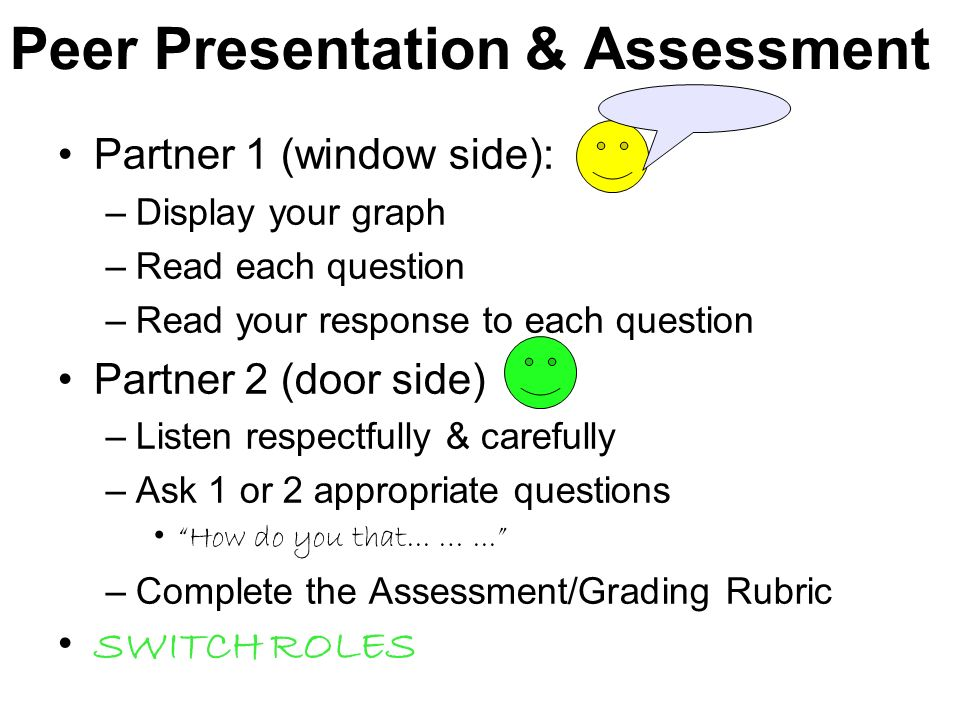 Peer Presentation & Assessment
