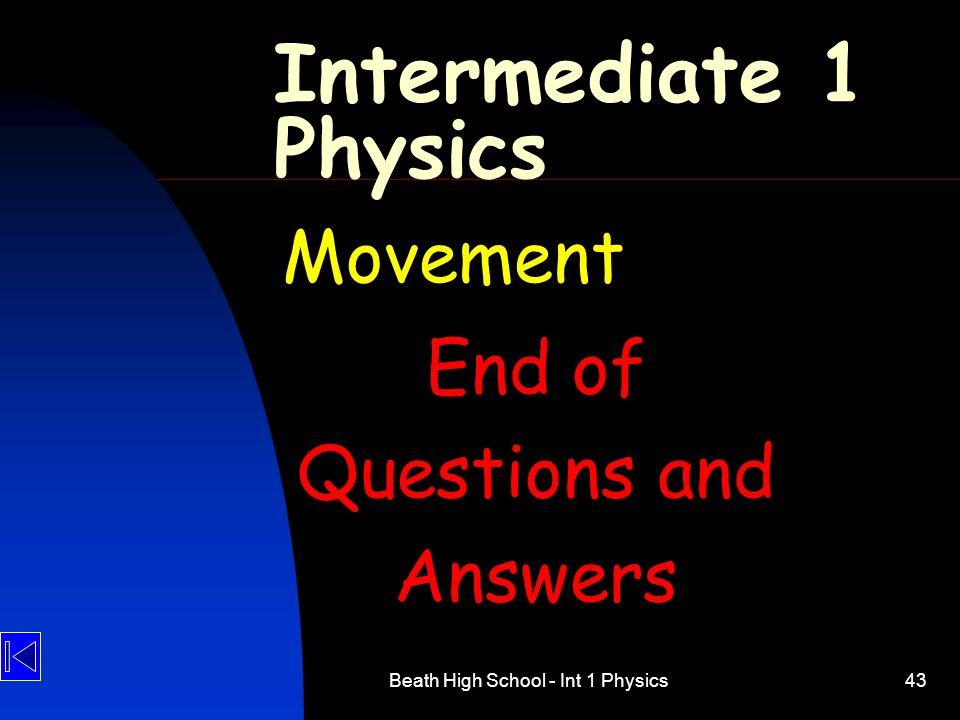 Beath High School - Int 1 Physics