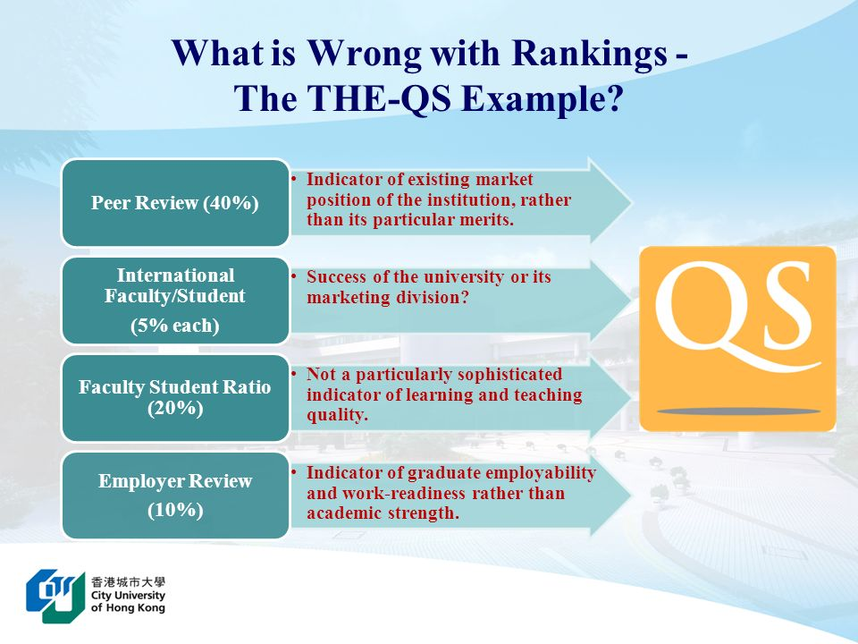 What is Wrong with Rankings - The THE-QS Example