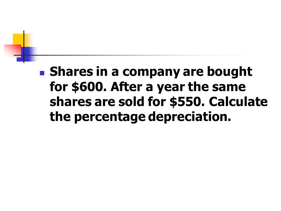 Shares in a company are bought for $600