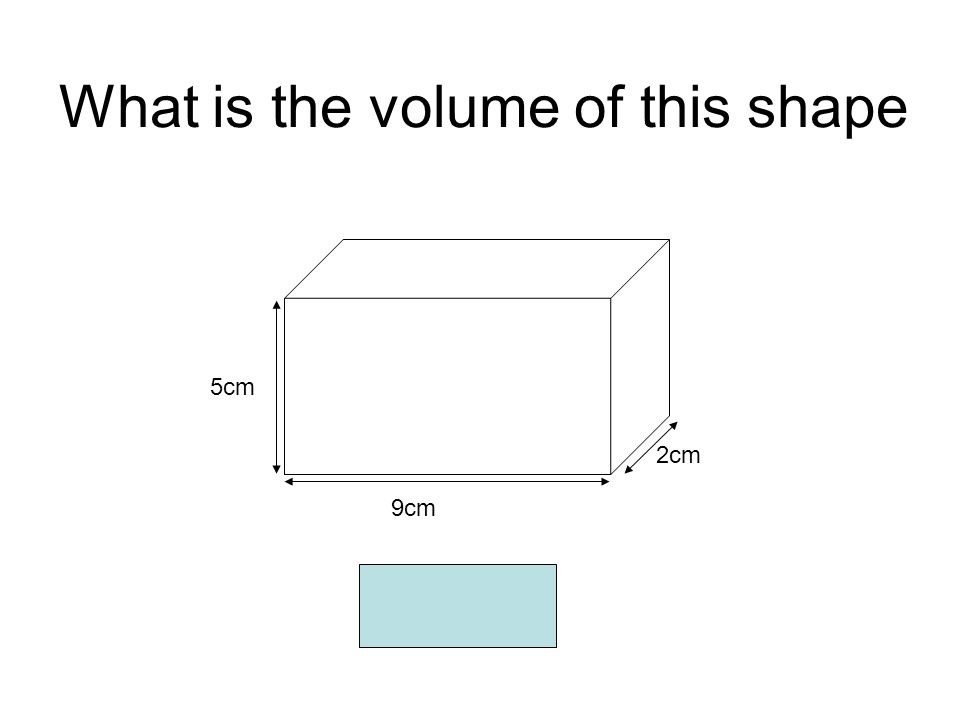 What is the volume of this shape