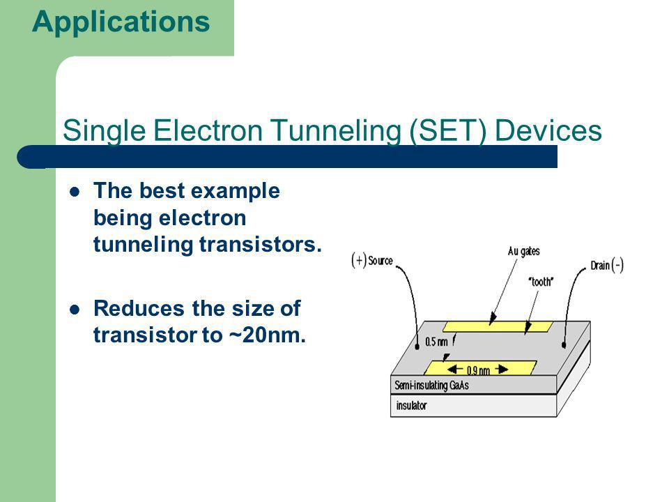 Single Electron Tunneling (SET) Devices