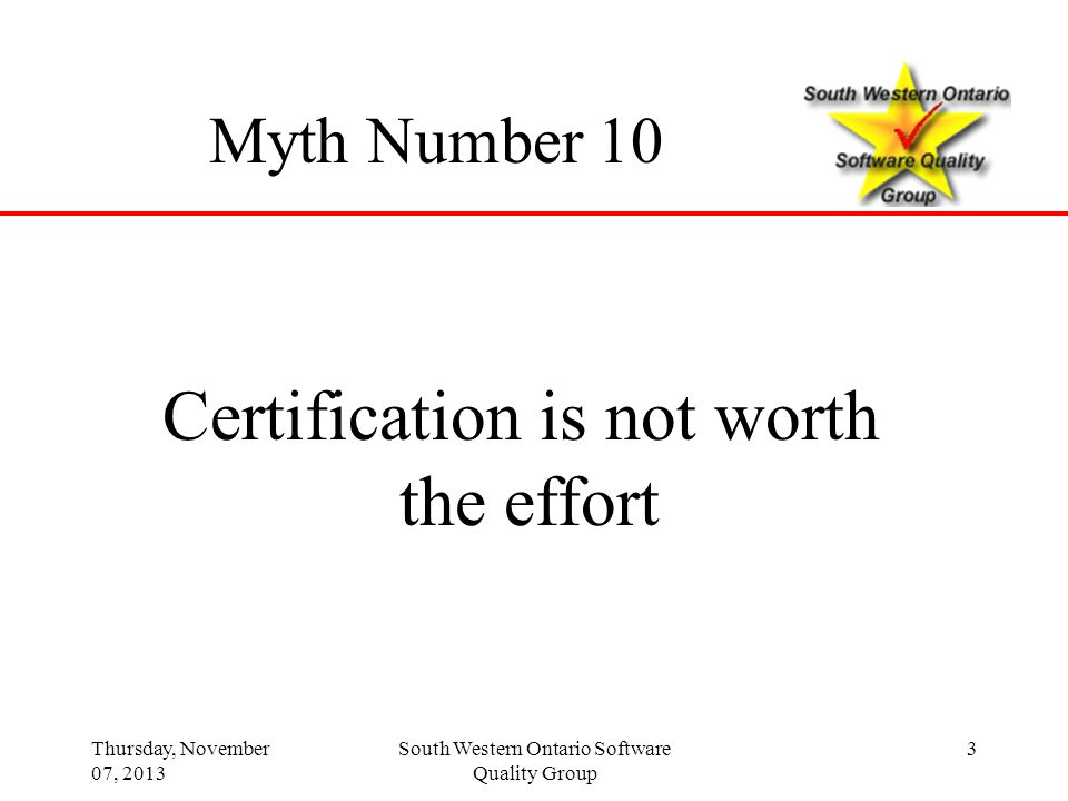 Certification is not worth the effort