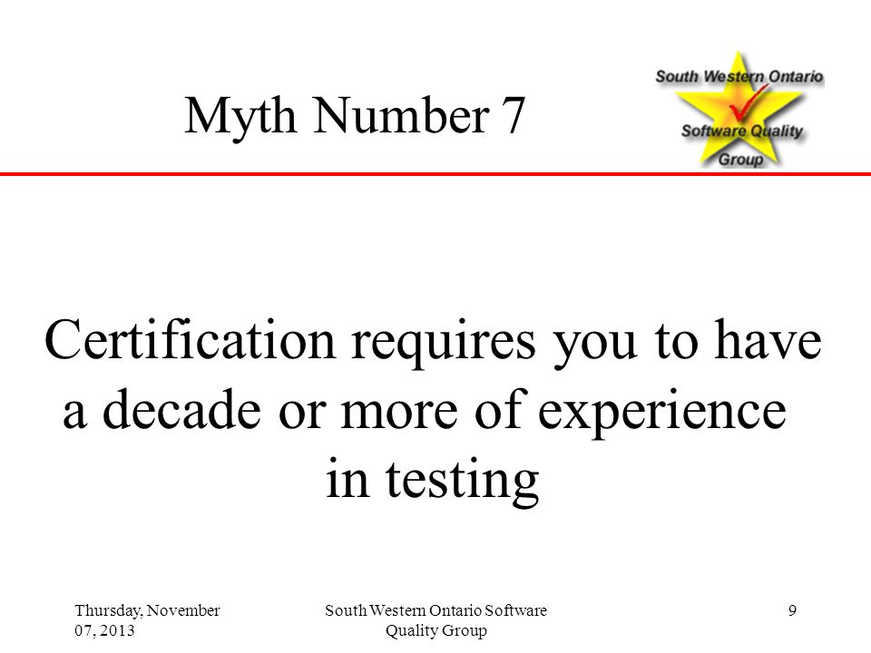 Certification requires you to have a decade or more of experience