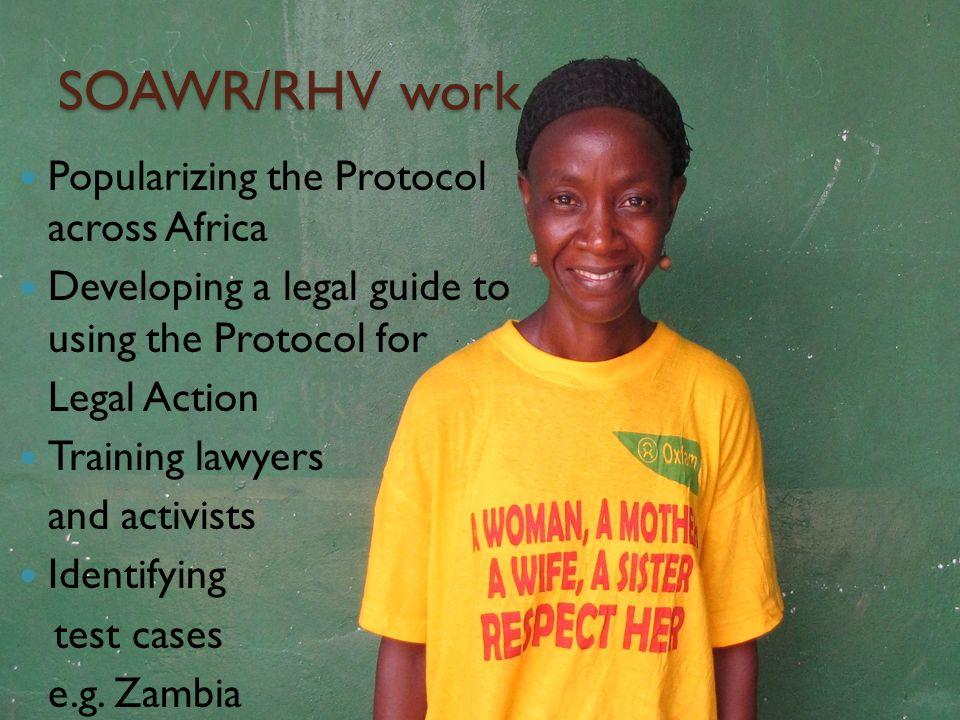 SOAWR/RHV work Popularizing the Protocol across Africa