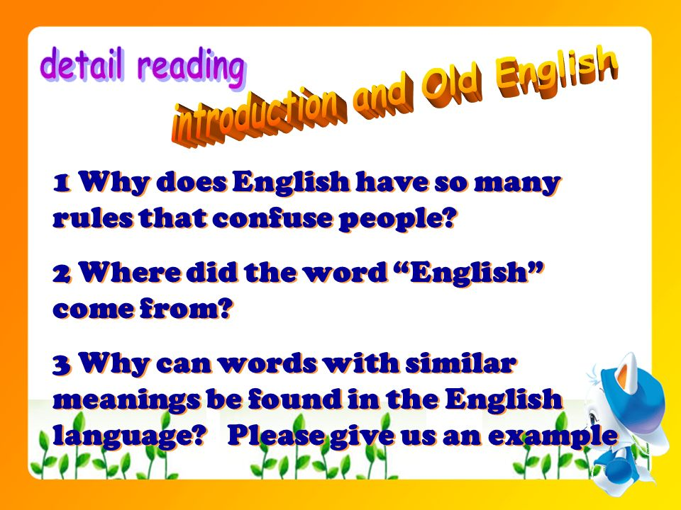 introduction and Old English
