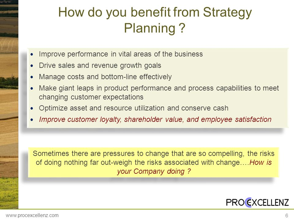 How do you benefit from Strategy Planning
