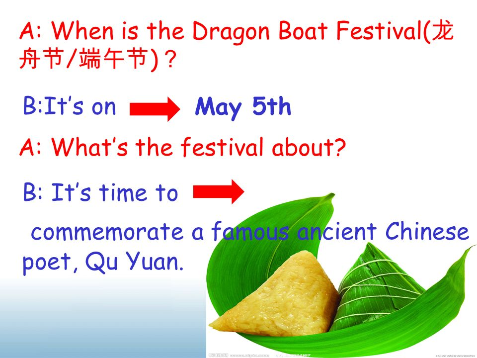 commemorate a famous ancient Chinese poet, Qu Yuan.