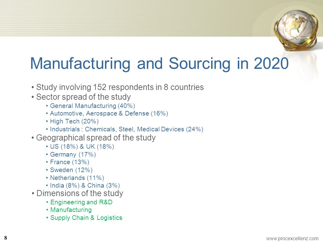 Manufacturing and Sourcing in 2020