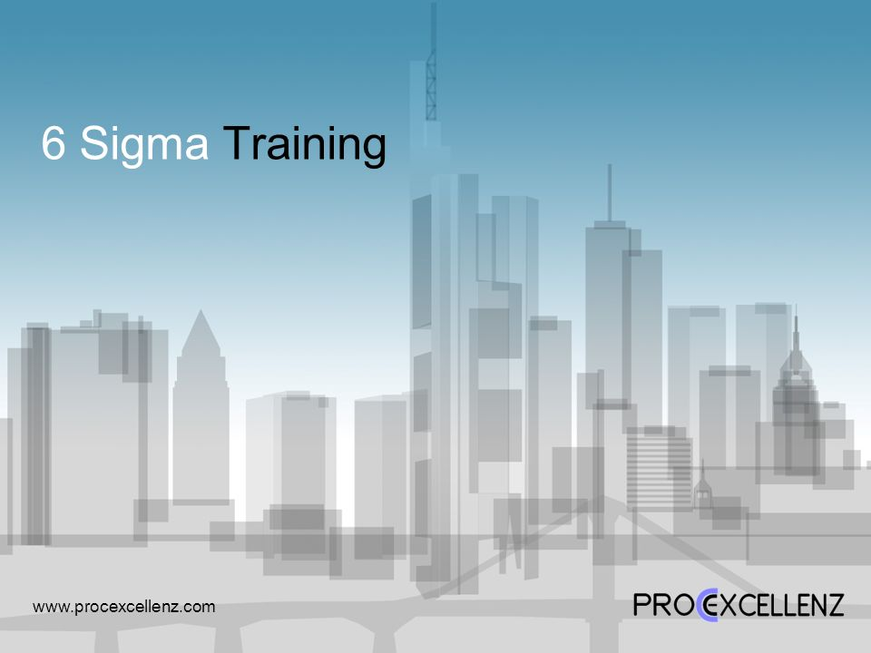 6 Sigma Training www.procexcellenz.com