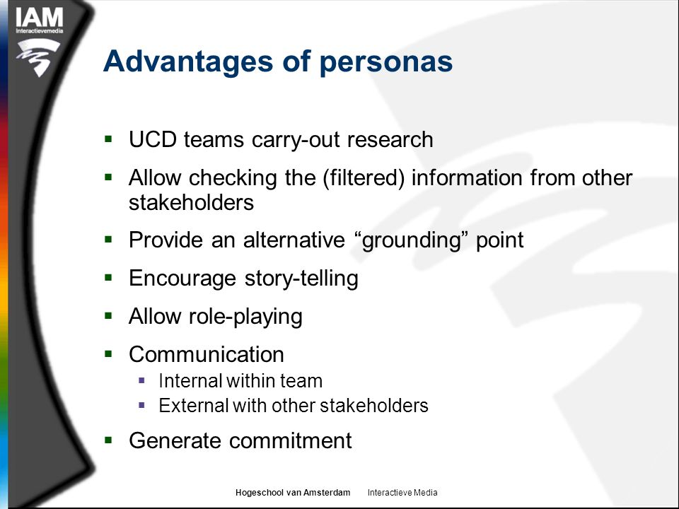 Advantages of personas