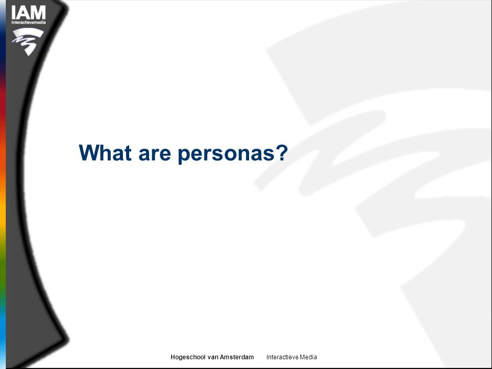 What are personas