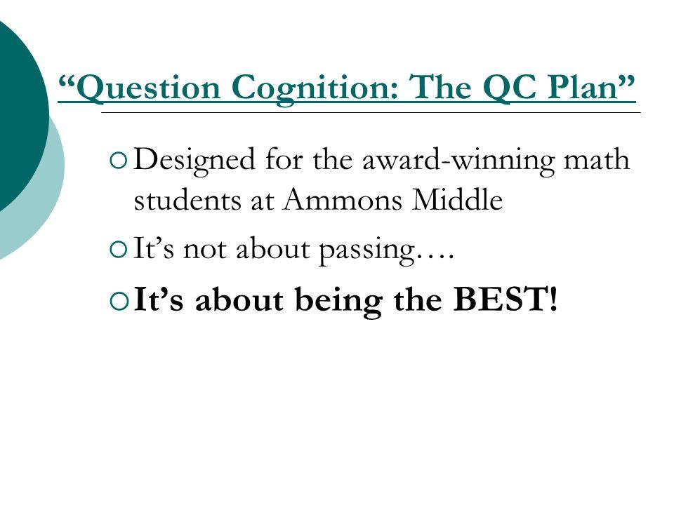 Question Cognition: The QC Plan