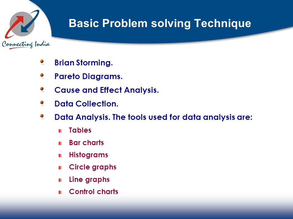 Basic Problem solving Technique