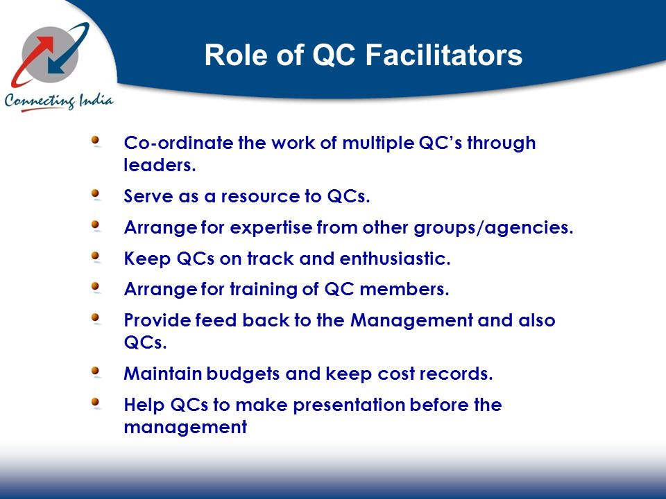 Role of QC Facilitators