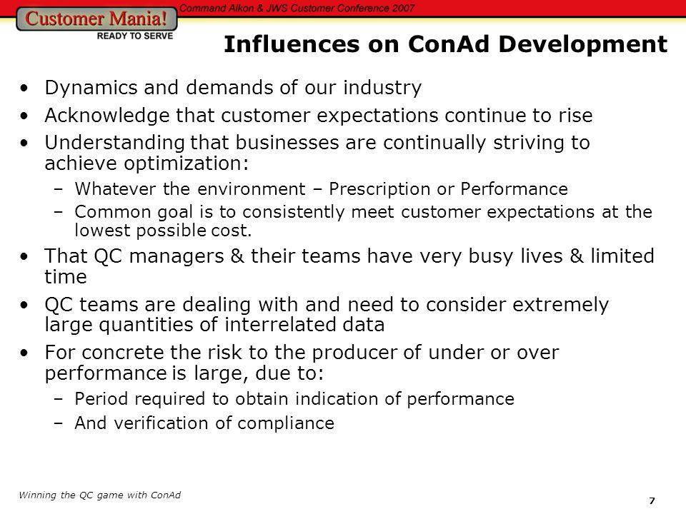 Influences on ConAd Development