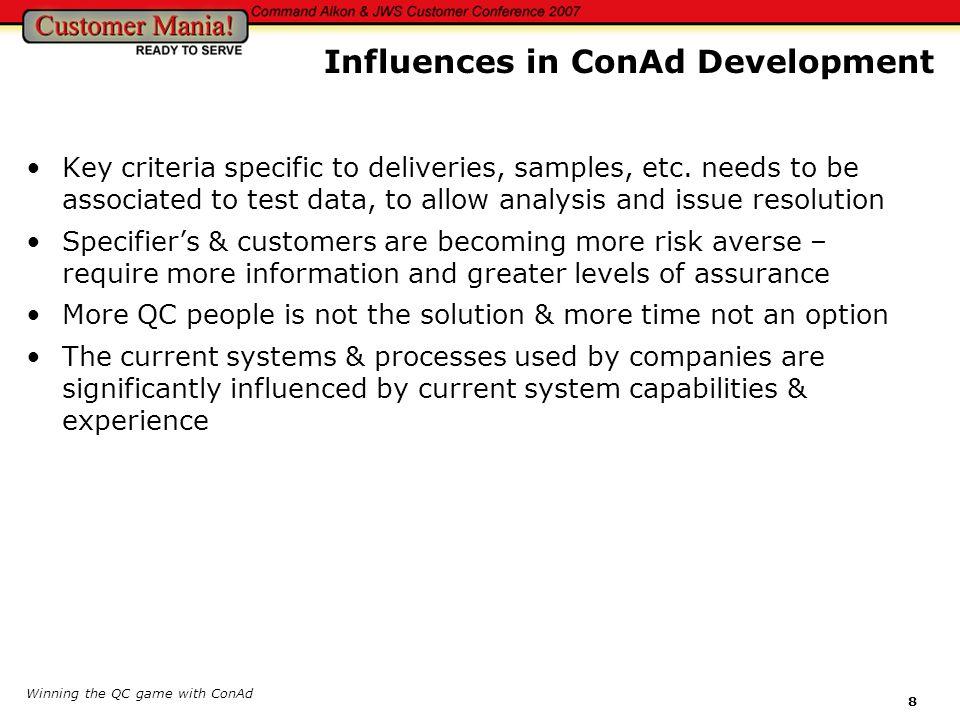 Influences in ConAd Development