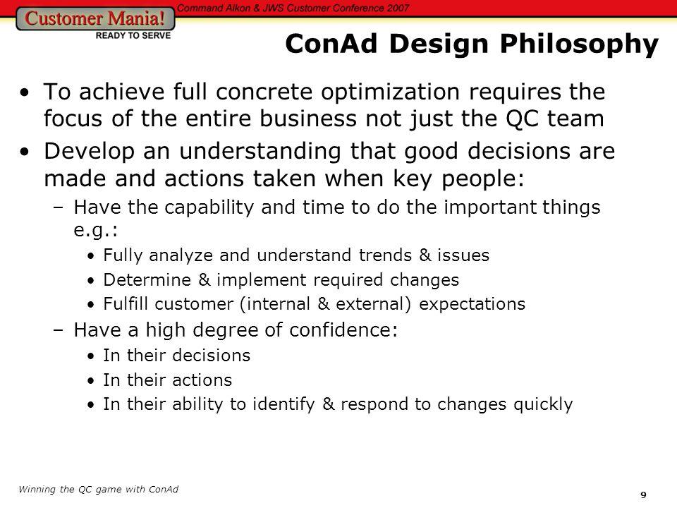ConAd Design Philosophy