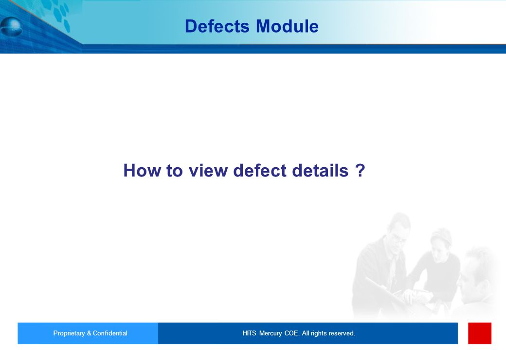 How to view defect details