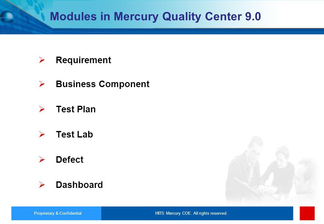 Modules in Mercury Quality Center 9.0