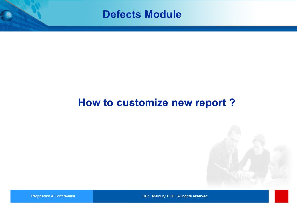 How to customize new report