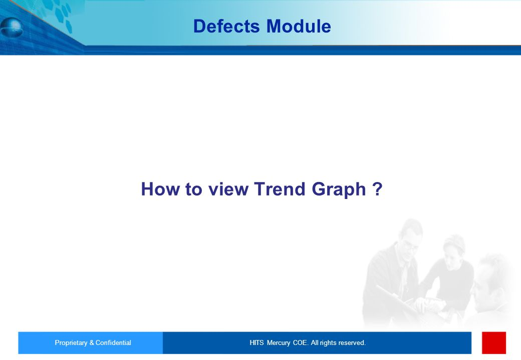 Defects Module How to view Trend Graph