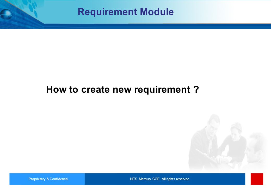 How to create new requirement