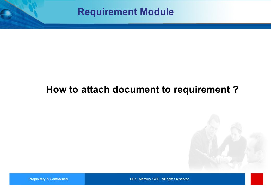 How to attach document to requirement