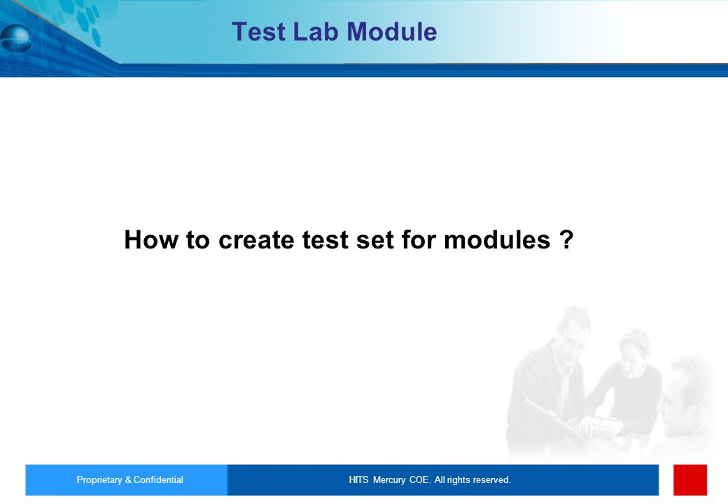 How to create test set for modules