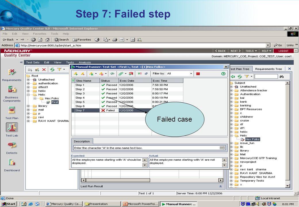 Step 7: Failed step Failed case Proprietary & Confidential