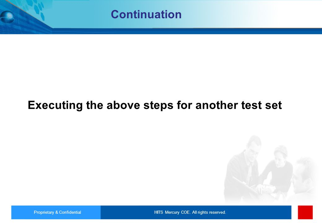 Continuation Executing the above steps for another test set