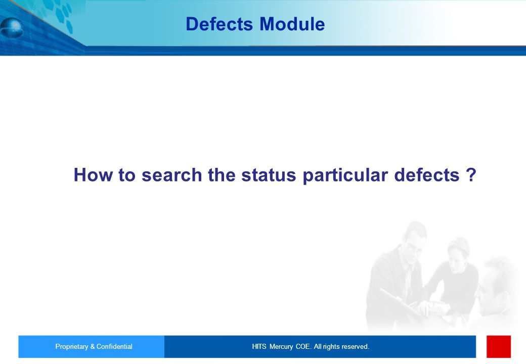 How to search the status particular defects