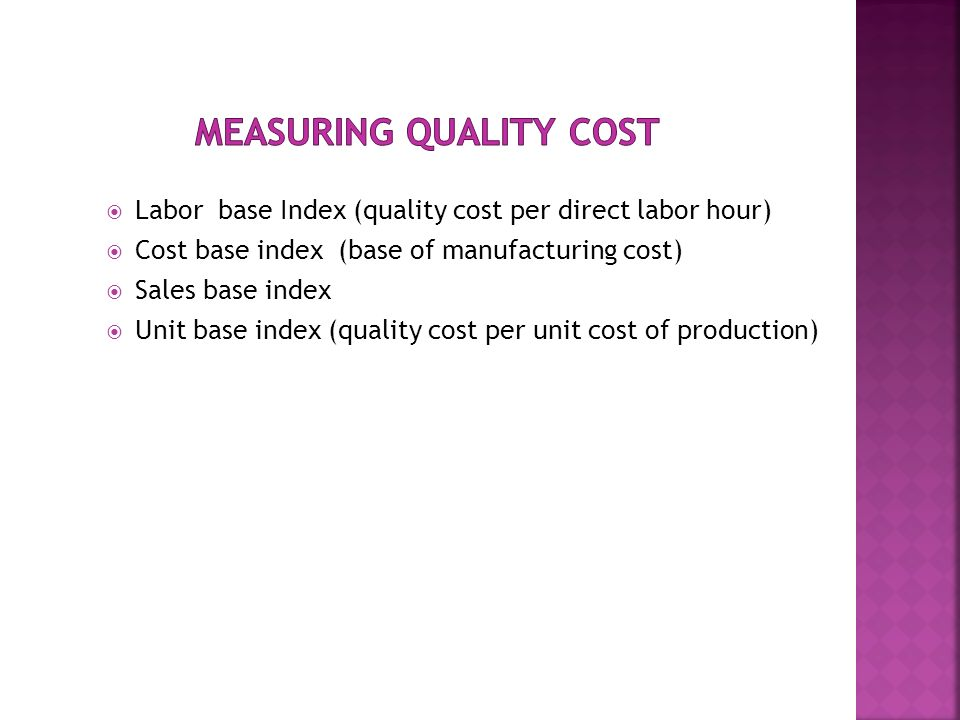 Measuring Quality Cost