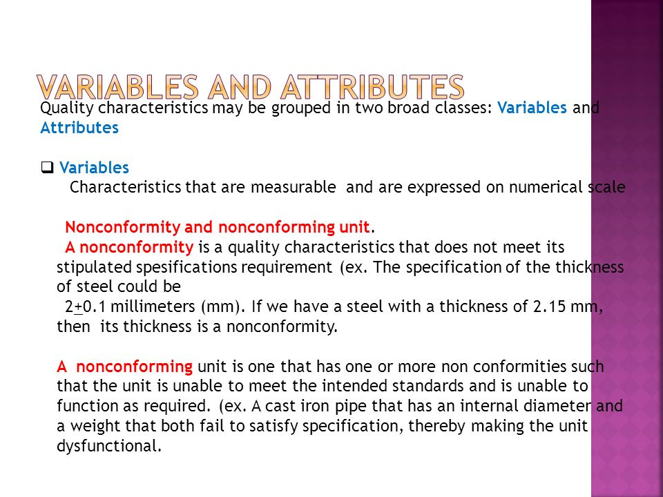 Variables and Attributes