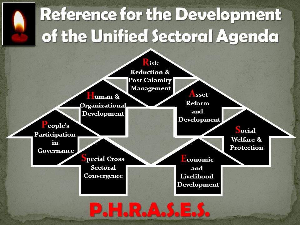 Reference for the Development of the Unified Sectoral Agenda