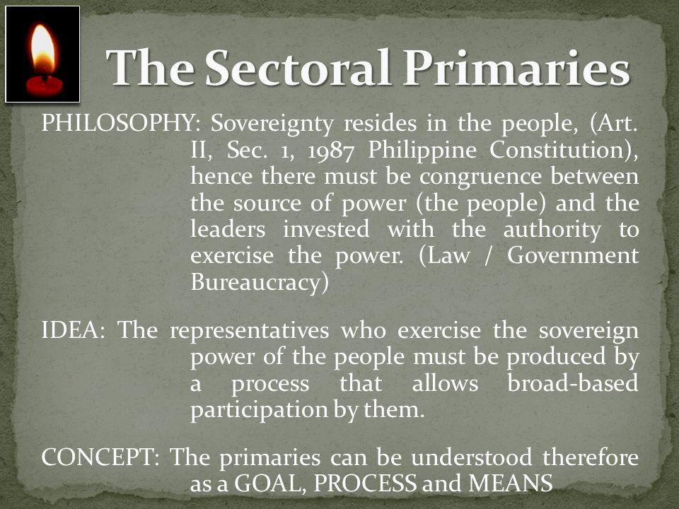 The Sectoral Primaries