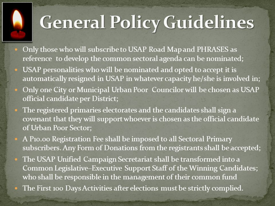 General Policy Guidelines