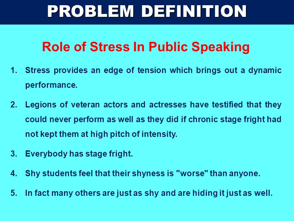 Role of Stress In Public Speaking