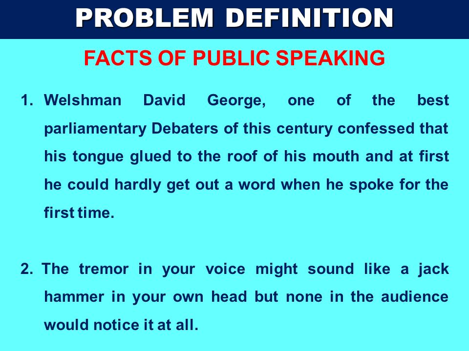 FACTS OF PUBLIC SPEAKING