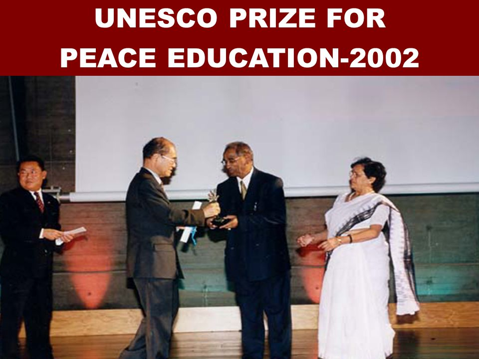 UNESCO PRIZE FOR PEACE EDUCATION-2002