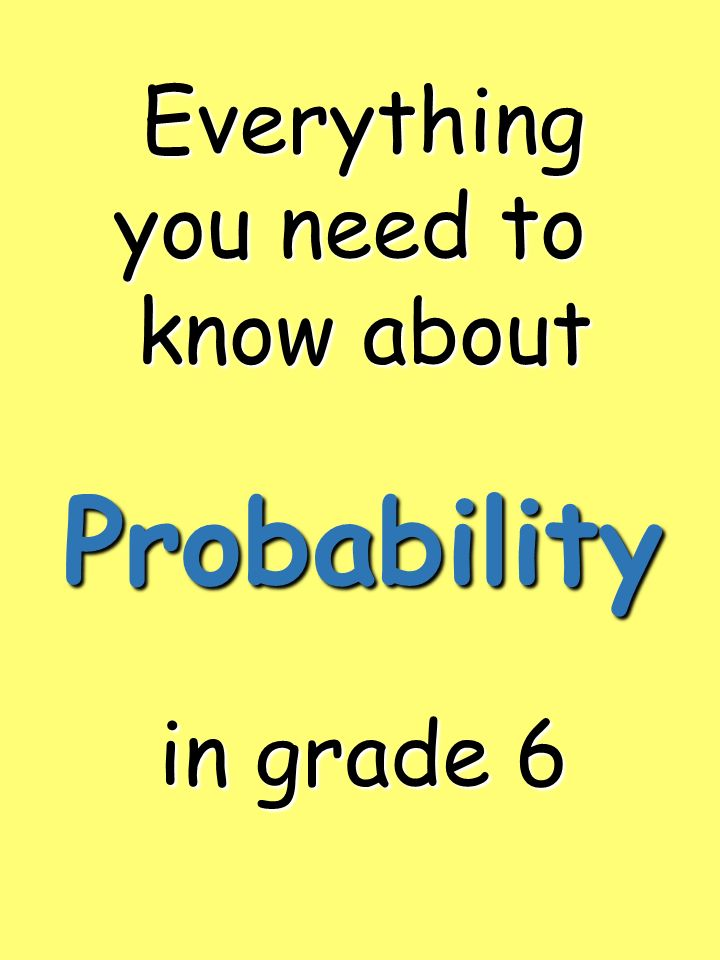 Everything you need to know about in grade 6 Probability
