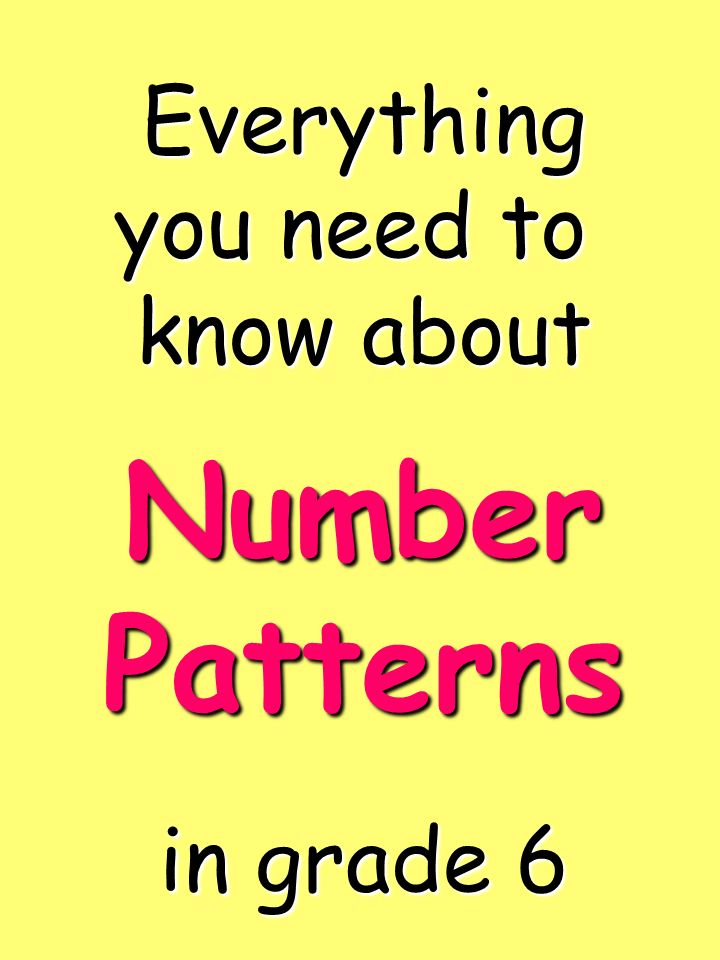 Everything you need to know about in grade 6 Number Patterns