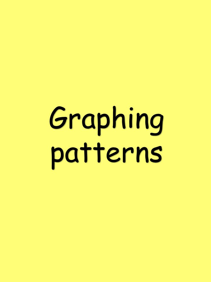 Graphing patterns