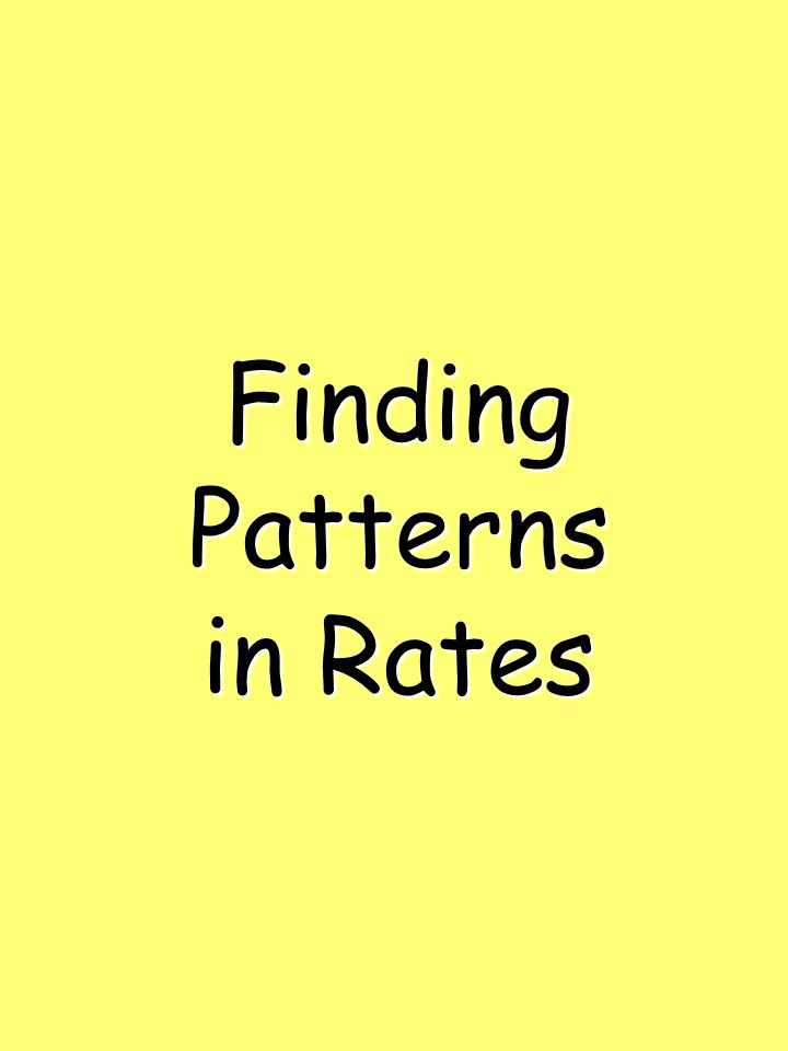 Finding Patterns in Rates