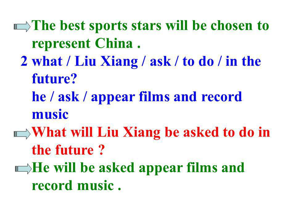 The best sports stars will be chosen to
